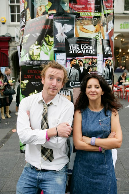 Brian Logan at the fringe with the comic Lucy Porter in 2007