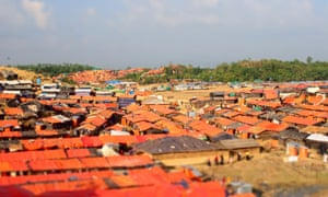 Orange roof tops of the camp.