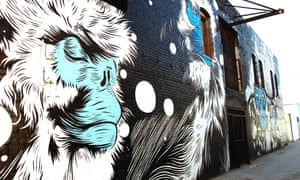 Monkeying around: a Gabba Gallery mural in LA