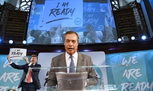 Nigel Farage was speaking to party members and delegates during the party's presentation of prospective parliamentary candidates.