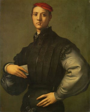 Portrait of a Young Man in a Red Cap by Jacopo Pontormo.