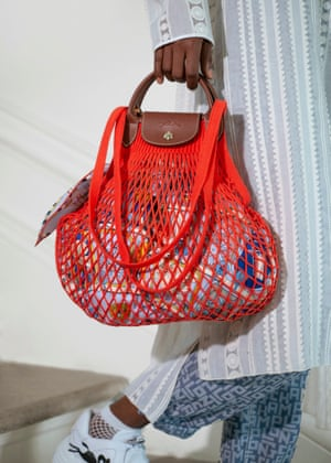 Longchamp has collaborated with Filt, the Normandy company that has made fishnet products since 1860. The two French brands have created the Le Pliage Filet bag, a modern adaptation of the iconic French string market bag, elevated with Longchamp's recognisable leather fastening and handles. It comes in six colours and is the chicest shopper to date. £70, longchamp.com