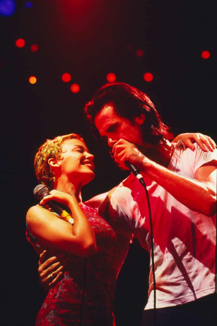 Nick Cave with Kylie Minogue at the Big Day Out.