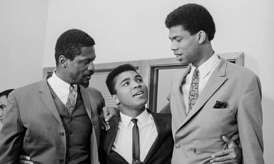 Bill Russell, Muhammad Ali and Kareem Abdul-Jabbar at the 'Cleveland Summit' in 1967 when they discussed how sports and politics work together