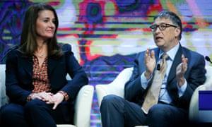 Bill and Melinda Gates in Davos
