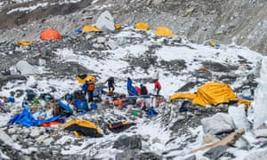 The Mount Everest south base camp.