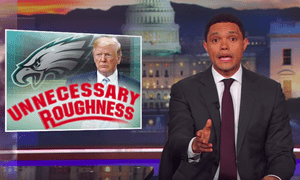 Trevor Noah: 'If you're thinking, I've never heard of an anthem party, yeah, there's no such thing.'