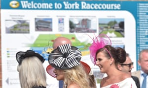 York racegoers arrive for the track's famous Ebor meeting.