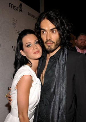 Perry with former husband Russell Brand at an event in Beverly Hills, 2010