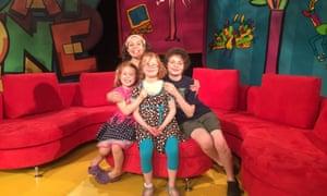 Cyndi Johnson and her children.