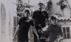 George Cockcroft with sons Powers (left) and Chris in Mallorca in 1972.