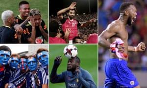 Brazil, Egypt, Costa Rica, Belgium and Japan composite