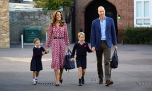 Family value … The Duke and Duchess of Cambridge with their children Princess Charlotte and Prince George.