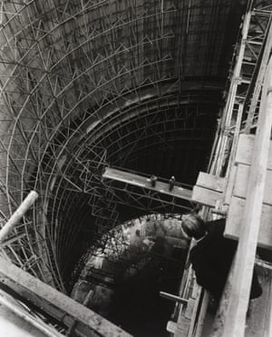 Cooling Tower Under Construction, Calder Hall Nuclear Power Station, Cumbria, Taylor Woodrow Construction Company, 1954