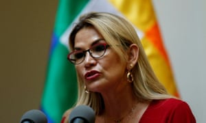 Jeanine Añez, Bolivia's interim president. Madrid issued a strongly worded denial over the alleged attempt to extract the former Morales aide.