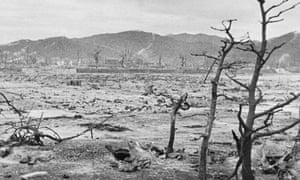 Devastation in Hiroshima days after the US air force dropped an atom bomb on the city in August 1945