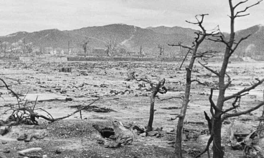 A file photo from 1945 shows devastated Hiroshima in the days after the atomic bomb was dropped.