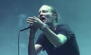 Thom Yorke performing at New York City's Madison Square Garden.
