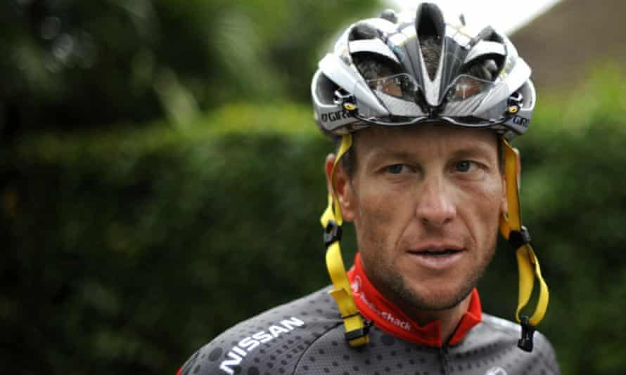 Lance Armstrong during his final Tour de France appearance in 2010