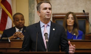 The Virginia governor, Ralph Northam, declared a temporary emergency on Wednesday, banning all weapons, from Capitol Square ahead of a massive rally planned next week over gun rights.
