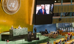 President Trump's speech at the UN general assembly on 22 September.