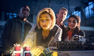 A new start … Jodie Whittaker as the Doctor with her new companions.