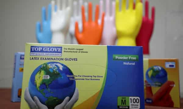Top Glove's sales to the UK increased 314% between January and July this year.