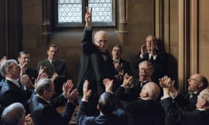 V for victory … Gary Oldman is the favourite to win best actor but will Darkest Hour win best picture?