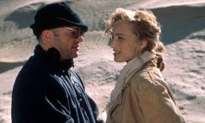 'Our relationship was prickly' … Anthony Minghella and Kristin Scott Thomas on location.
