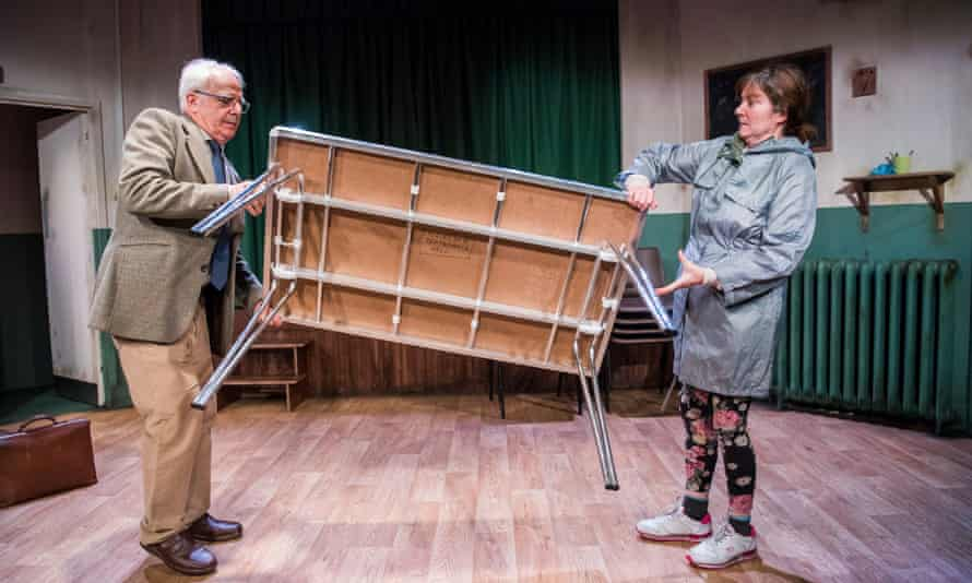 Gradually becoming friends … Gary Lilburn (Harry) and Connie Walker (Denise) in Trestle.