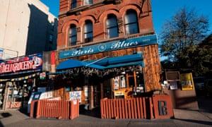 Exterior of Paris Blues jazz bar.