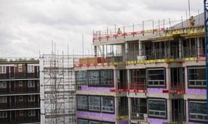 Building work under way at Grosvenor's Bermondsey site
