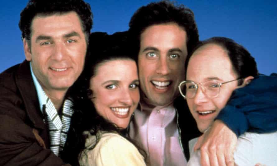 Julia Louis-Dreyfus, Michael Richards, Jerry Seinfeld and Jason Alexander in Seinfeld.