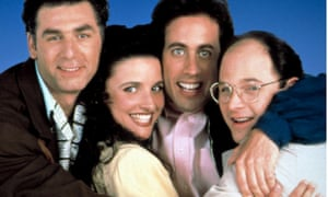 Kramer, Elaine, Jerry and George, from the US television series Seinfeld.
