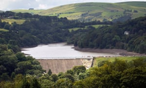 Work continues to shore up the dam at Toddbrook reservoir near the village of Whaley Bridge.