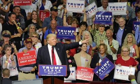 Donald Trump: a hero to so many of the forgotten white working class.