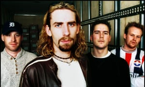 Nickelback, with Chad Kroeger in foreground.