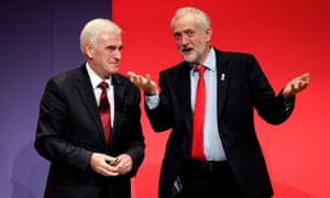 John McDonnell and Jeremy Corbyn at conference