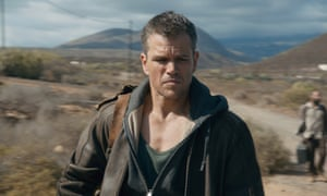 Matt Damon in Jason Bourne, 'conveys violence, pathos and even tragedy'.