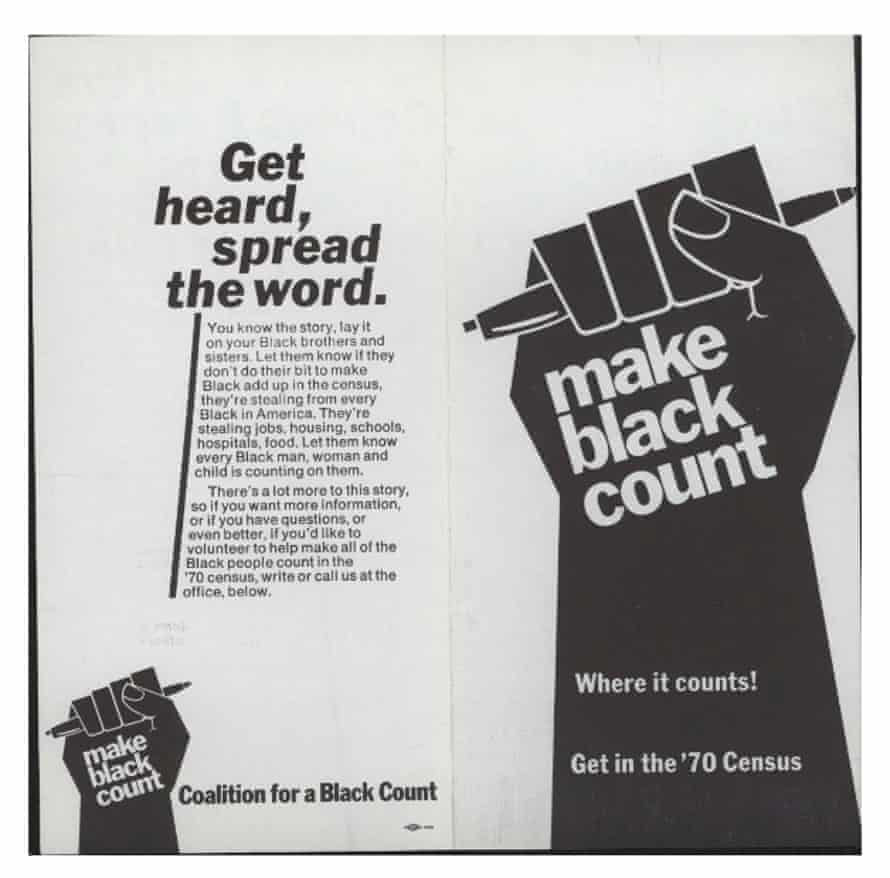 A Make Black Count poster which was campaigning for the 1970 census.