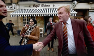 Charles Kennedy on the general election campaign trail in Scotland just three weeks after his father died.
