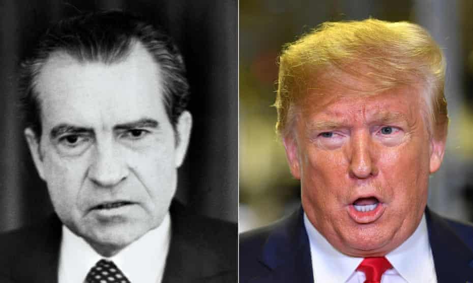 Richard Nixon in 1973, Donald Trump in 2019.