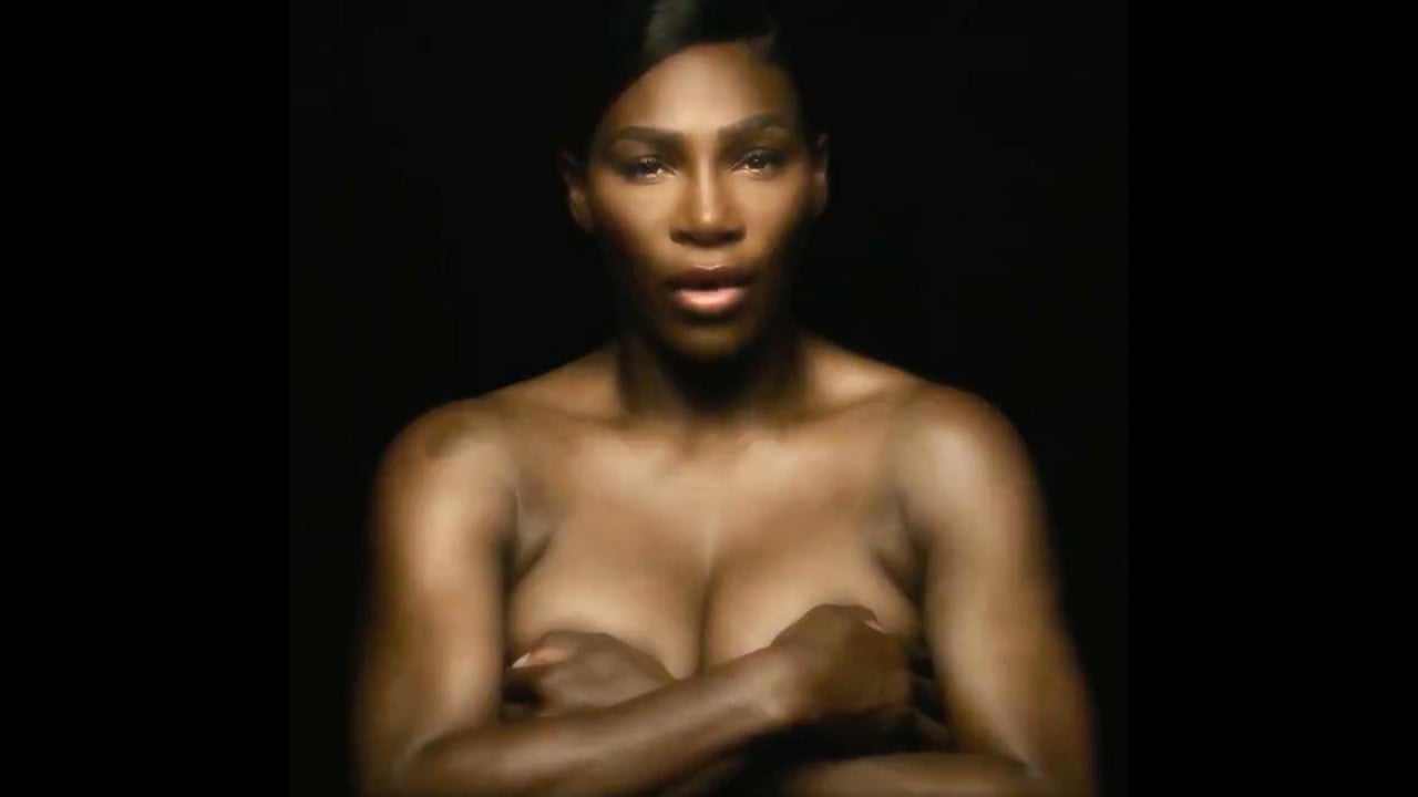 26eef3b9340 Serena Williams sings I Touch Myself topless to raise breast cancer  awareness - video