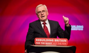 John McDonnell addresses the Labour party conference.