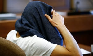 The suspect, named only as Farouk B, at a regional court in Cologne.