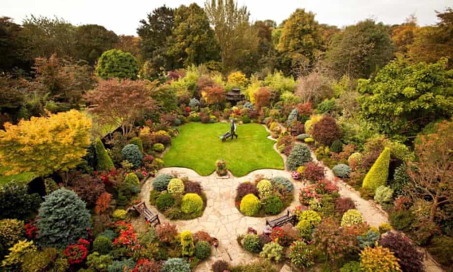 Tony and Marie Newton's 'four-seasons garden'.