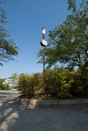 Ryota Kikuchi: Ride on time, 2014Kikuchi says: 'I choose to quietly take part in a performance, which I document as a photograph. It is a personal adventure. I hope my work gives people a fresh viewpoint on ordinary cityscapes and landscapes'