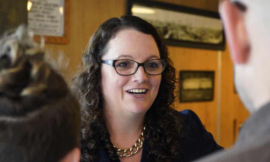 Kara Eastman, a Democratic House candidate in Nebraska.