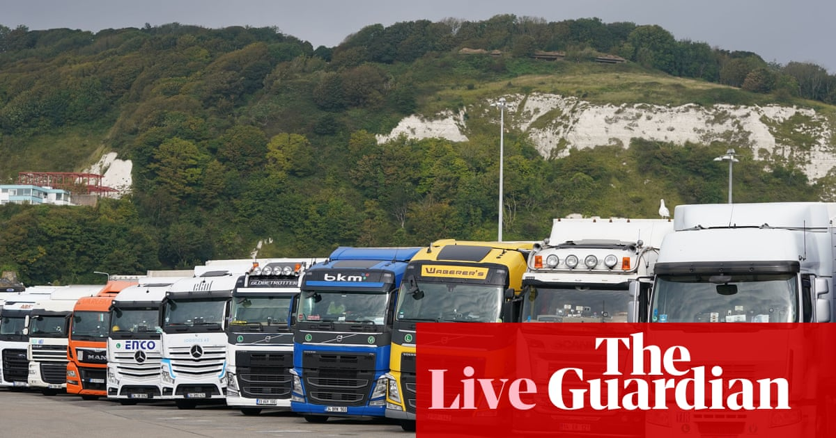 Treasury minister branded 'ridiculous' after claiming HGV driver shortage nothing to do with Brexit – live