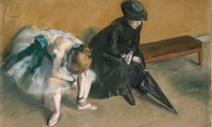 Detail from L'attente (Waiting), c.1882, by Edgar Degas.